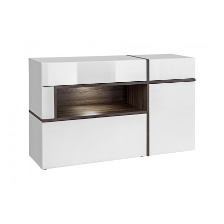 Buffet, bahut modèle CRISS + LED. Enfilade design et moderne pour votre salon ou salle à manger.