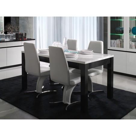 Table à manger et chaises FABIO - Ensemble composé d'une table 160 cm + 6 chaises. Set ultra design et tendance.