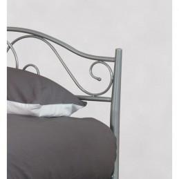 Lit enfant en métal gris ALEXANDRA 90x190 cm + sommier.