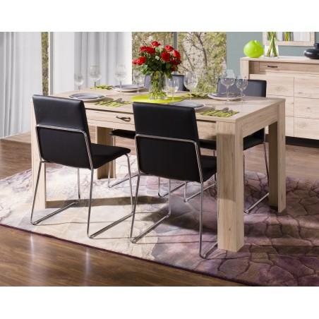 Table à manger MASSIMO petit modèle (160 cm) avec tiroir intégré - Produit élégant et raffiné, idéal pour votre salle à manger.