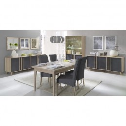 Buffet, enfilade, bahut GM MALMO + 3 miroirs. Meuble design type SCANDINAVE.