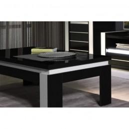 ensemble meuble de salon lina blanc et noir laqu 899 00. Black Bedroom Furniture Sets. Home Design Ideas
