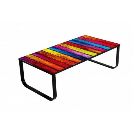 Table basse de salon Rainbow design.