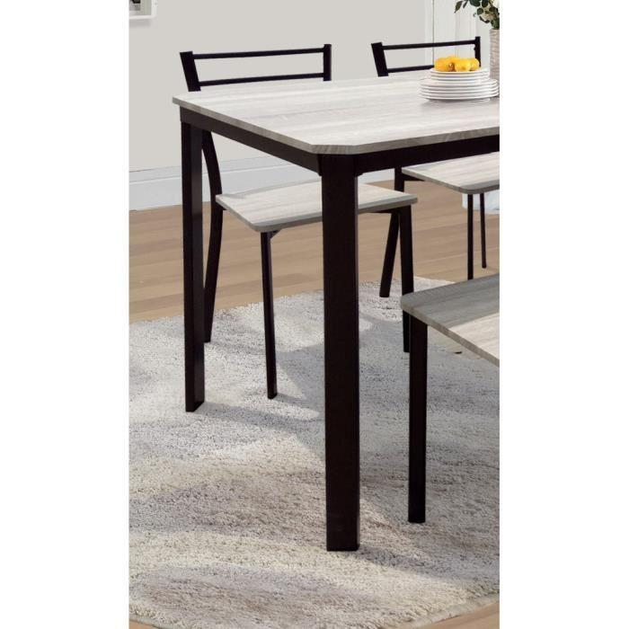 ENSEMBLE TABLE ET CHAISES Table de cuisine et salle à ...
