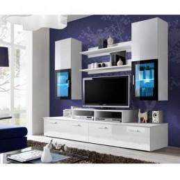 "Meuble TV Mural Design ""Mini"" 200cm Blanc"