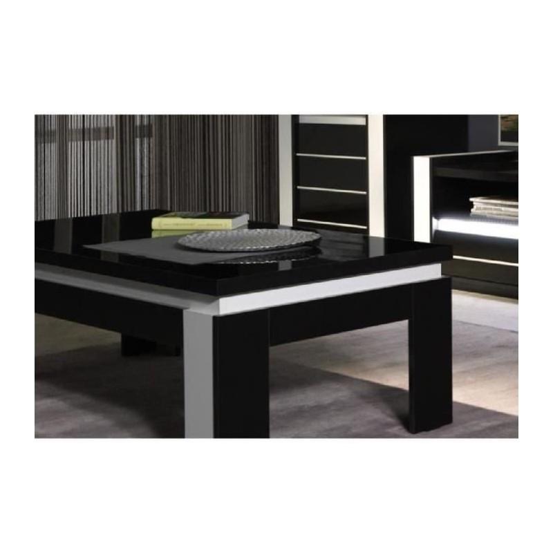 Table basse design lina noir et blanche laqu e 179 00 - Table basse laquee noire ...