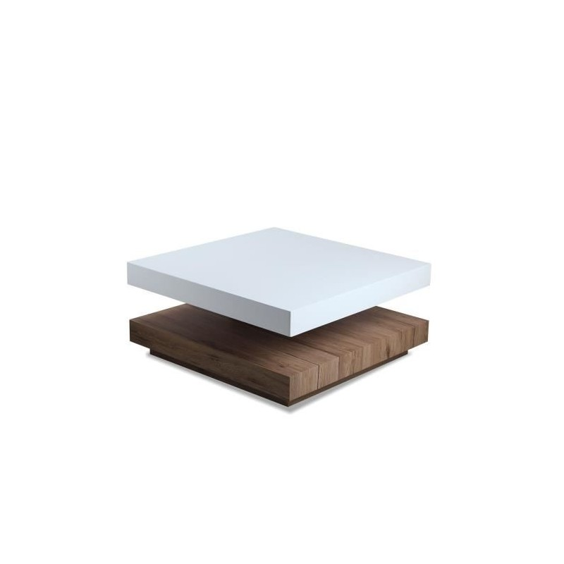 salon table basse sandy laqu blanc et bois. Black Bedroom Furniture Sets. Home Design Ideas