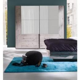 Armoire 2 portes coulissantes avec miroirs, Garde robe pour chambre à coucher, dressing, penderie.