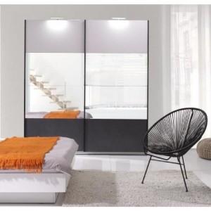 Armoire design RENATO 2 portes coulissantes avec miroirs