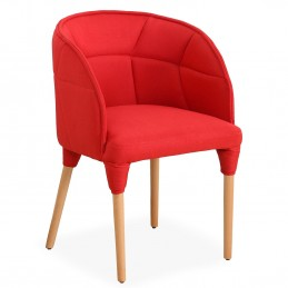 Fauteuil Cielo Tissu Rouge...
