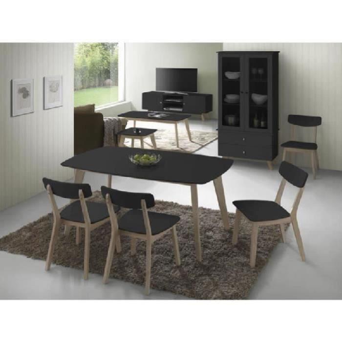 Bourges Noir Ensemble Table Et 6 Chaises 332 € 50 54RjL3A