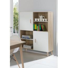 Bibliothèque, armoire de rangement OSLO. Meuble design type SCANDINAVE