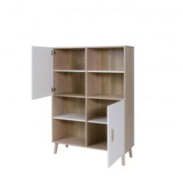 biblioth que armoire de rangement oslo meuble design type scandin. Black Bedroom Furniture Sets. Home Design Ideas