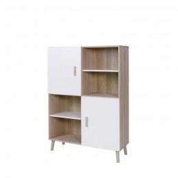 Biblioth que armoire de rangement oslo meuble design - Meuble type scandinave ...