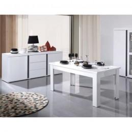 PRICE FACTORY - Ensemble AVIGNON composé d'un buffet, bahut 160 cm + table extensible 180-220 cm