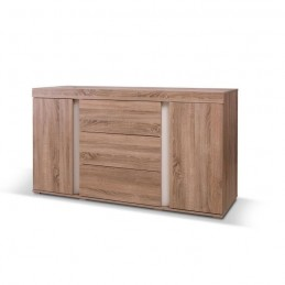 PRICE FACTORY - Buffet, bahut, enfilade AVIGNON coloris sonoma. Meuble design pour salon, salle à manger.