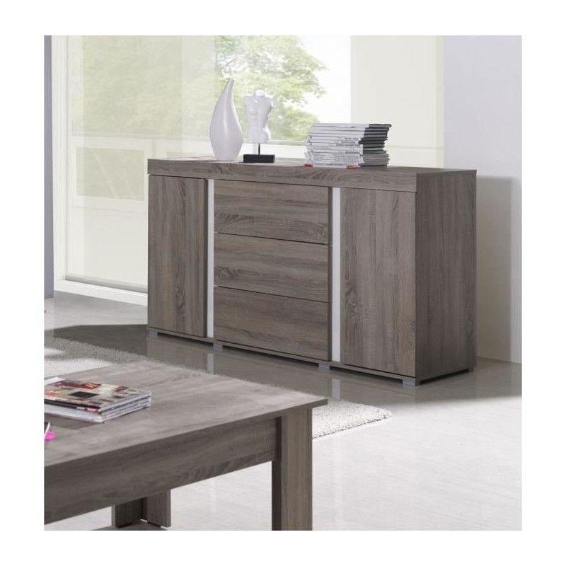 Buffet Bahut Enfilade Avignon Coloris Sonoma Meuble Design Pour