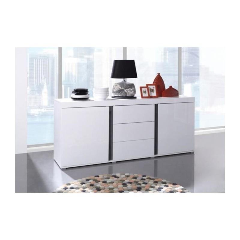 Buffet AVIGNON bahut, enfilade design blanc laqué