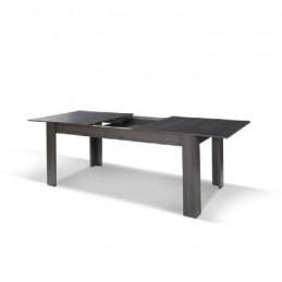 ... Table Extensible Pour Salle à Manger AVIGNON Blanche Laquée. Dimensions  180 220 Cm Avec ...