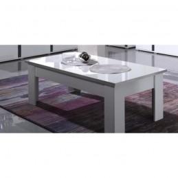 Table basse design AVIGNON blanche laquée