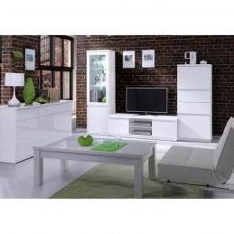 Meuble TV FABIO coloris blanc brillant. Meuble design pour votre salle à manger.