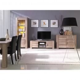 Buffet, bahut, enfilade petit modèle FARRA 1 porte, 3 tiroirs. Meuble idéal pour votre salon ou salle à manger