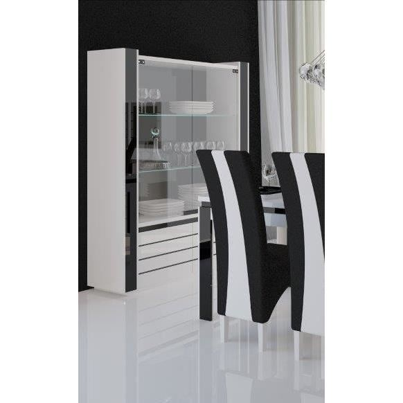 salle manger salle manger lina buffet vitrine. Black Bedroom Furniture Sets. Home Design Ideas