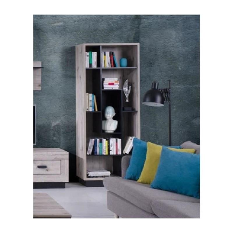 PRICE FACTORY - Bibliothèque MALA coloris chêne wellington.