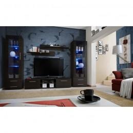 Meuble TV GALINO C design, coloris wengé. Meuble moderne et tendance pour votre salon.