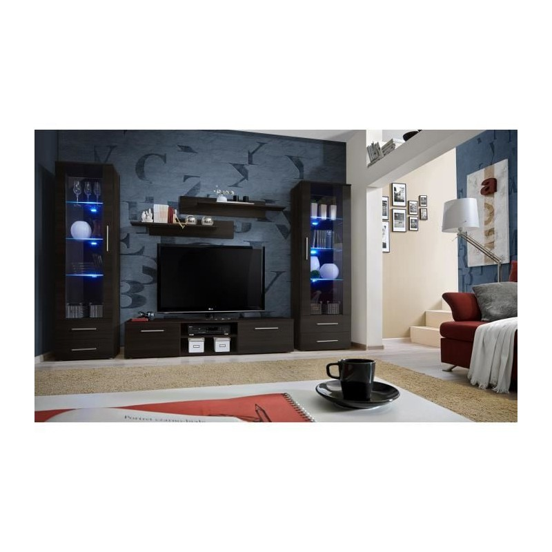 meuble tv galino c design coloris weng meuble moderne et tendanc. Black Bedroom Furniture Sets. Home Design Ideas