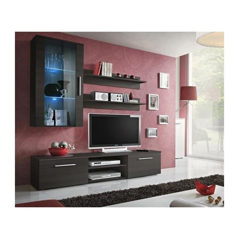 Salon Meuble Tv Galino E Design Coloris Wenge Meuble Moderne Et T