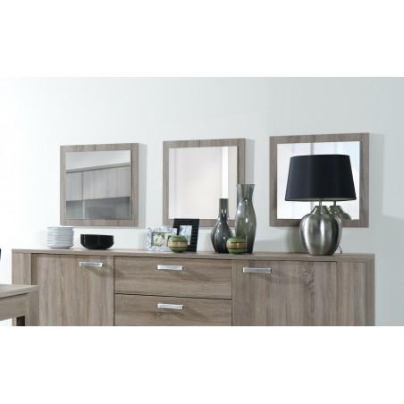 Lot de 3 miroirs AVIGNON. Cadre coloris SONOMA. Accessoire idéal pour la décoration de votre habitation.
