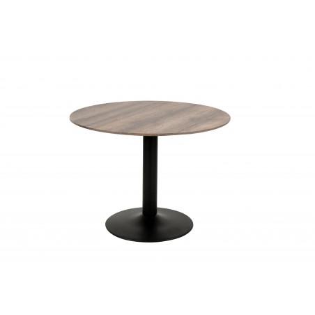 Table ronde avec pied central JULES. Magnifique design pour votre cuisine ou votre salle à manger.